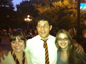 Marianne and I with Harry Potter. The power of love will keep us together forever.