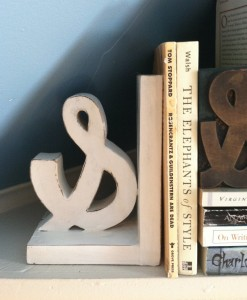 Ampersand Bookend! It's beautiful and practical!