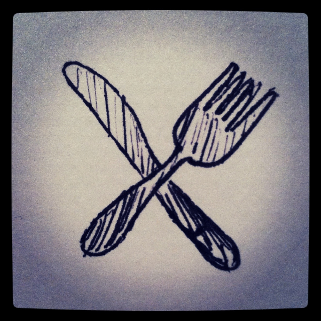 Fork and knife badge