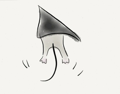 Artist's rendition of terrifying/adoralbe mouse feet.