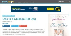 Ode to a Chicago Hot Dog