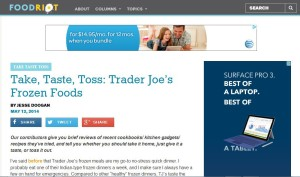 Take, Taste, Toss: Trader Joe's Frozen Foods